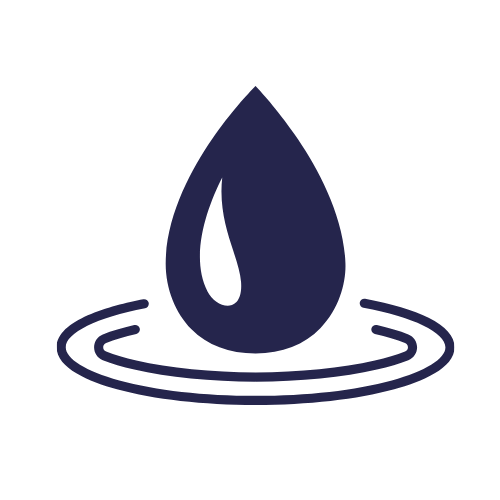 water drop icon blue