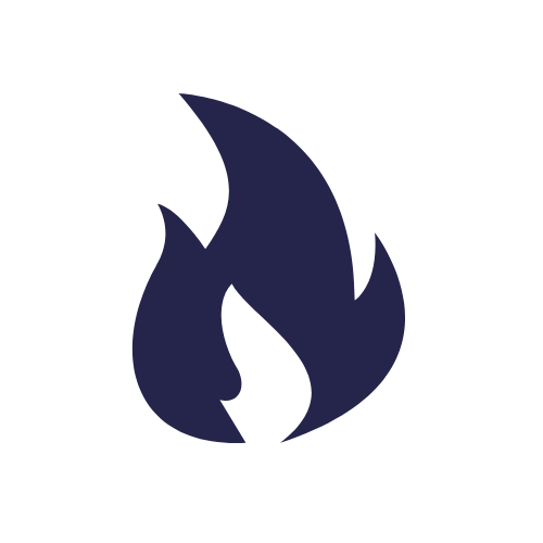 flame icon blue