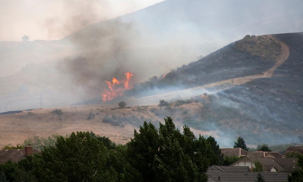 smoke damage from wildfire