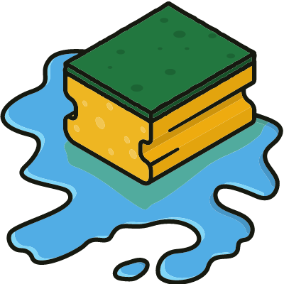 water damaged hardwood floor icon